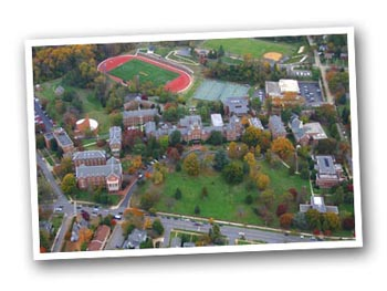 Aerial view of Randolph College Campus