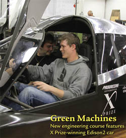 Cover September 2011 - Engineering students take in the next generation of fuel efficient superlight automobiles.